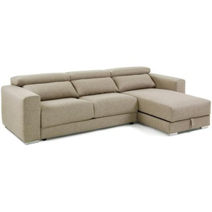 Kave Home - Canapé Atlanta 3 places chaise longue beige 290 cm