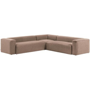 Kave Home - Canapé d'angle Blok 6 places rose 320 x 320 cm