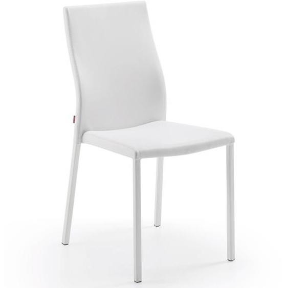 Kave Home - Chaise Abelle polyuréthane blanc