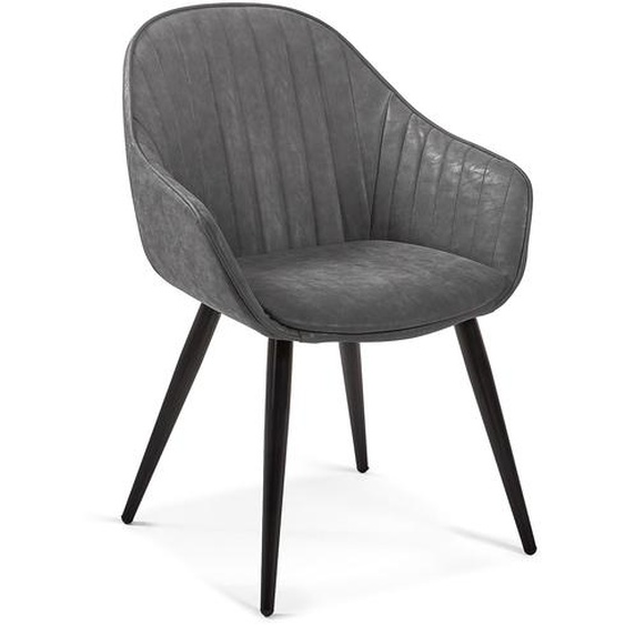 Kave Home - Chaise Fabia graphite