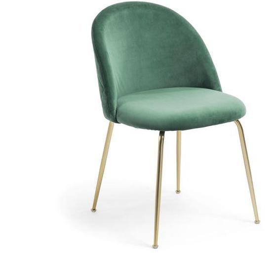 Kave Home - Chaise Ivonne velours vert