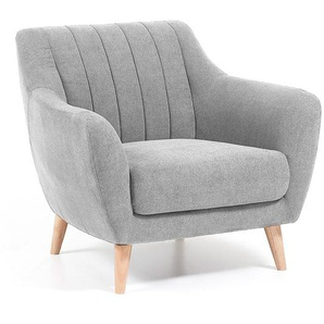 Kave Home - Fauteuil Obo gris clair