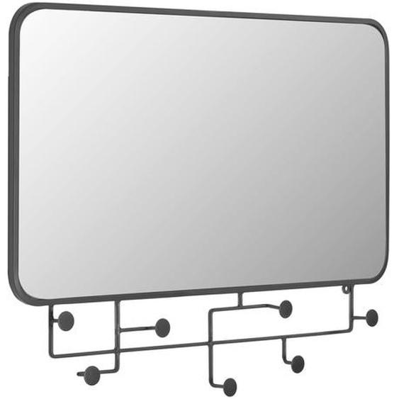 Kave Home - Miroir avec crochets Vianela 63 x 82 cm noir