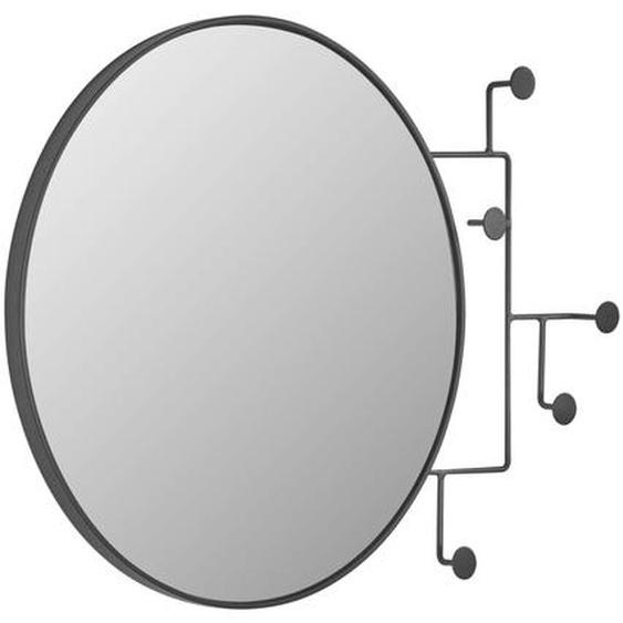 Kave Home - Miroir avec crochets Vianela 70 x 51 cm noir