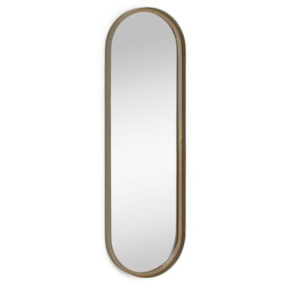 Kave Home - Miroir mural Tiare métal doré 31 x 101 cm