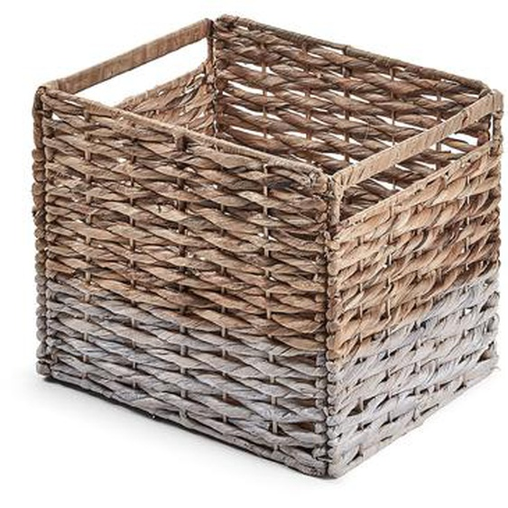 Kave Home - Panier Words natural et blanc