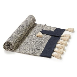 Kave Home - Plaid Ginnie bleu et beige