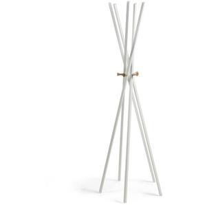 Kave Home - Porte-manteaux Chelsey 170 cm blanc