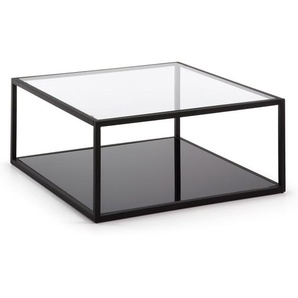 Kave Home - Table basse Blackhill carrée 80 x 80 cm noir