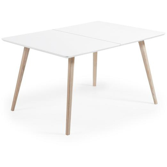 Kave Home - Table extensible Eunice 140 (220) x 90 cm + sac