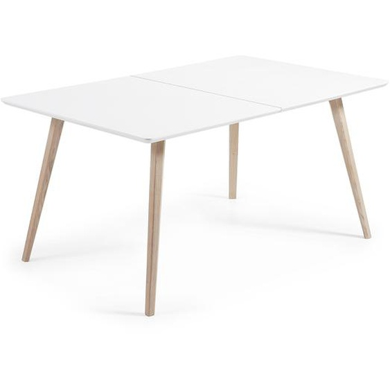 Kave Home - Table extensible Eunice 160 (260) x 100 cm + sac