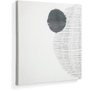 Kave Home - Tableau Prism grand format fond blanc