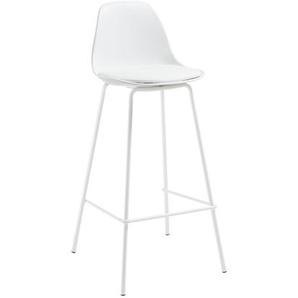 Kave Home - Tabouret Brighter blanc hauteur 75 cm
