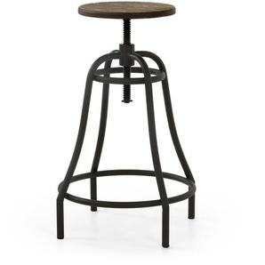 Kave Home - Tabouret Malira graphite hauteur 66-84 cm