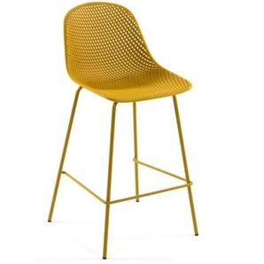 Kave Home - Tabouret Quinby jaune hauteur 75 cm