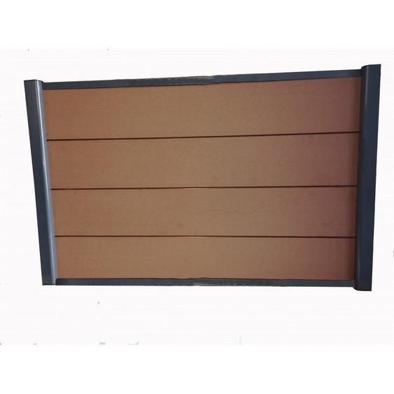 Kit complet de départ clôture 1,50 L x 1,80 H (3 coloris) - Coloris - Brun rouge, Hauteur - 180 cm, Longueur - 150 cm - MCCOVER