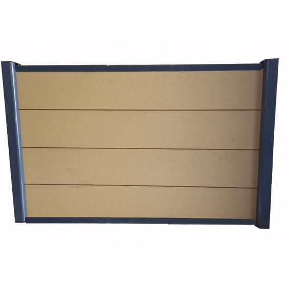Kit complet de départ/fin clôture 1,50 L x 1,80 H (3 coloris) - Coloris - Beige clair, Hauteur - 180 cm, Longueur - 150 cm