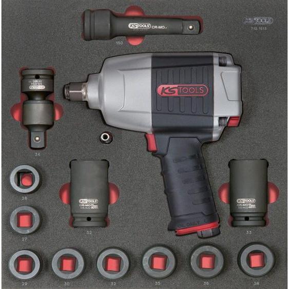 KS TOOLS 712.1013 Module de douilles et clé à chocs pneumatique 3/4, 13 pièces 848.65 - KSTOOLS