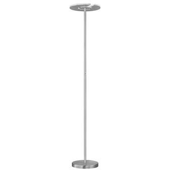Lampadaire LED Dent nickel H180 cm