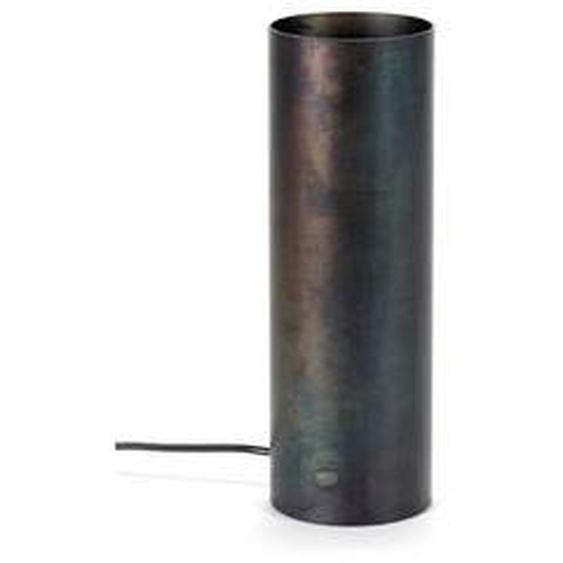 Lampadaire Sofisticato acier bleui noir D10 x H30 cm