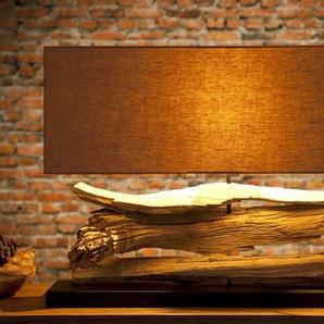 Lampe à poser en bois flotté - Ronan