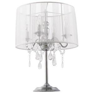 Lampe de chevet baroque à pampilles - Klassik JR - Blanc