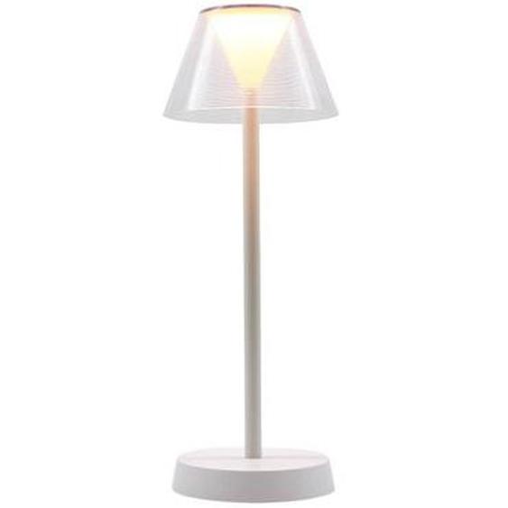 Lampe de table sans fil LED blanc chaud BEVERLY WHITE H34cm