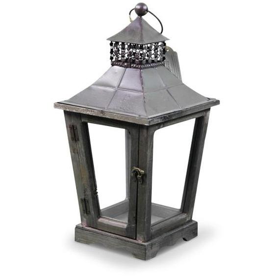 Lanterne Bois 22x22x43.5cm - Marron