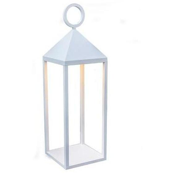 Lanterne design en aluminium sans fil poignée métal LED blanc chaud NUNA H47cm