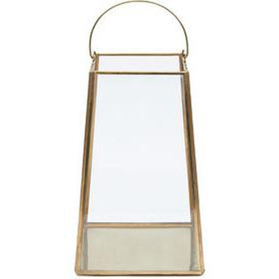 Lanterne vitrée Raphaël laiton doré H40 x L23 x P11 cm