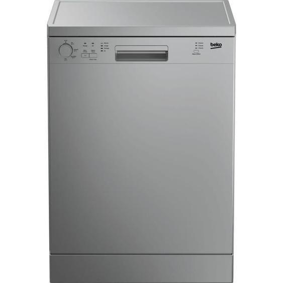 Lave-vaisselle pose libre BEKO LVP63S2 - 13 couverts - Largeur 60 cm - Classe A+ - 47 dB - Silver