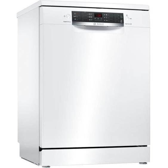 Lave-vaisselle pose libre BOSCH SMS46AW03E Série 4 - 12 couverts - Moteur induction - Largeur 60 cm - Classe A+ - 44 dB - Blanc
