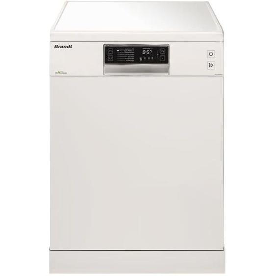 Lave-vaisselle pose libre BRANDT DFH13534W - 13 couverts - Largeur 60 cm - Classe A+++ - 44 dB - Blanc