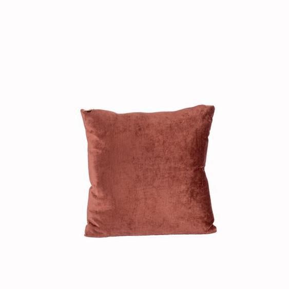 LIO Coussin brun foncé Larg. 45 x Long. 45 cm