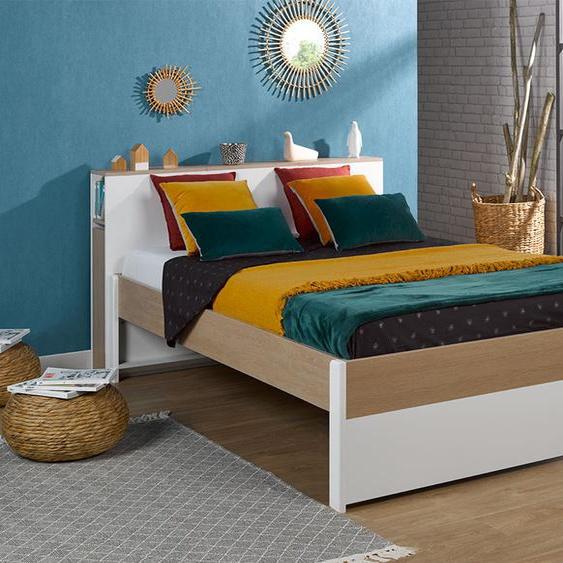 Lit 2 places + Tête de lit Nomade 140x200 cm