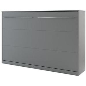 Lit armoire escamotable gris - 120 cm x 200 cm