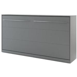 Lit armoire escamotable gris - 90 cm x 200 cm