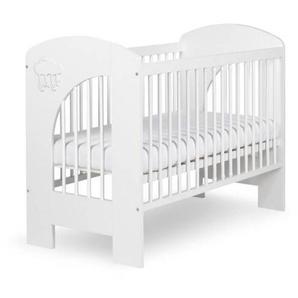 Lit bébé 120x60 Nel - Blanc