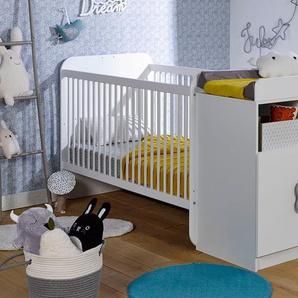 Lit bébé combiné évolutif Madrid Blanc 70x140