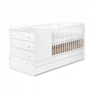 Lit bébé évolutif 3 en 1 Compact - Blanc