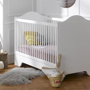 Lit bébé évolutif Blanc Occitane 70x140