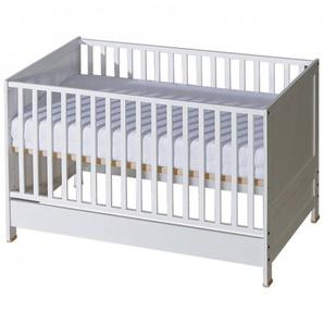 Lit bébé évolutif Mélodie blanc ou bois - Blanc,Bouleau