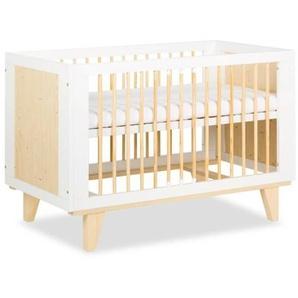 Lit bébé scandinave Lydia 120x60cm - Blanc