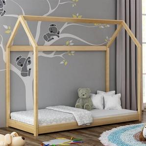 Lit cabane en bois Domek - Pin - 80 cm x 160 cm
