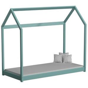 Lit cabane en bois Domek - Turquoise - 80 cm x 160 cm