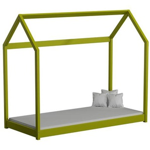 Lit cabane en bois Domek - Vert - 80 cm x 160 cm