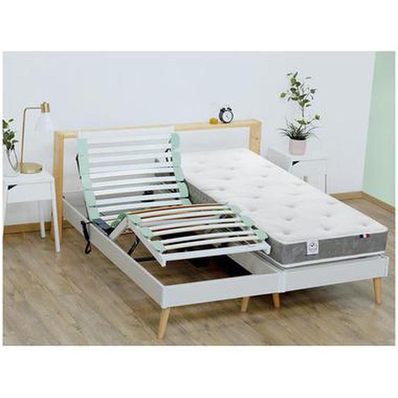 Lit électrique relaxation matelas mémoire de forme PRIAM de DREAMEA - 2 x 80 x 200 cm
