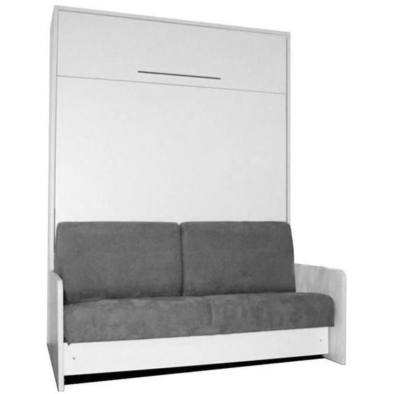 Lit escamotable SPACE SOFA FAST 140 cm canapé gris - - - INSIDE75