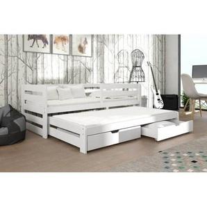 Lit gigogne blanc Senso 90x190