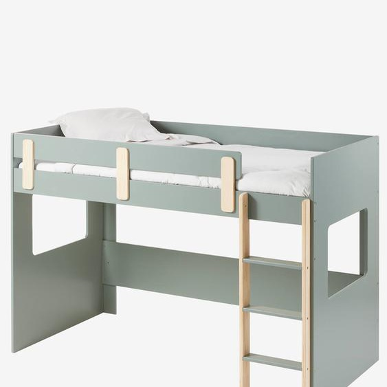 Lit mezzanine mi-hauteur LIGNE EVEREST kaki